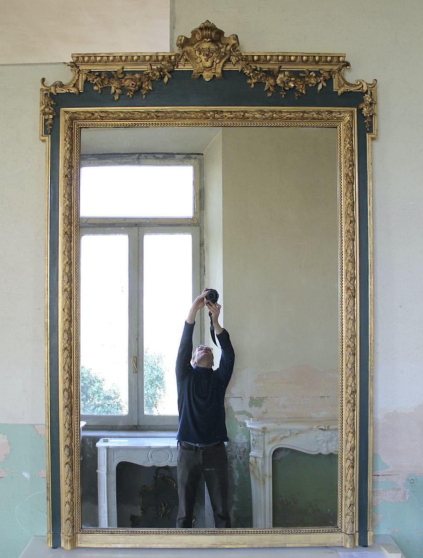 009G ECCEZIONALE CAMINIERA LUIGI XVI FLOREALE IN FOGLIA D'ORO