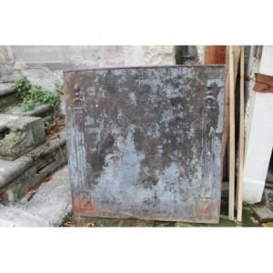 157 (054) GRANDE (MOLTO GRANDE) PIASTRA DI META' OTTOCENTO PER FONDO CAMINO