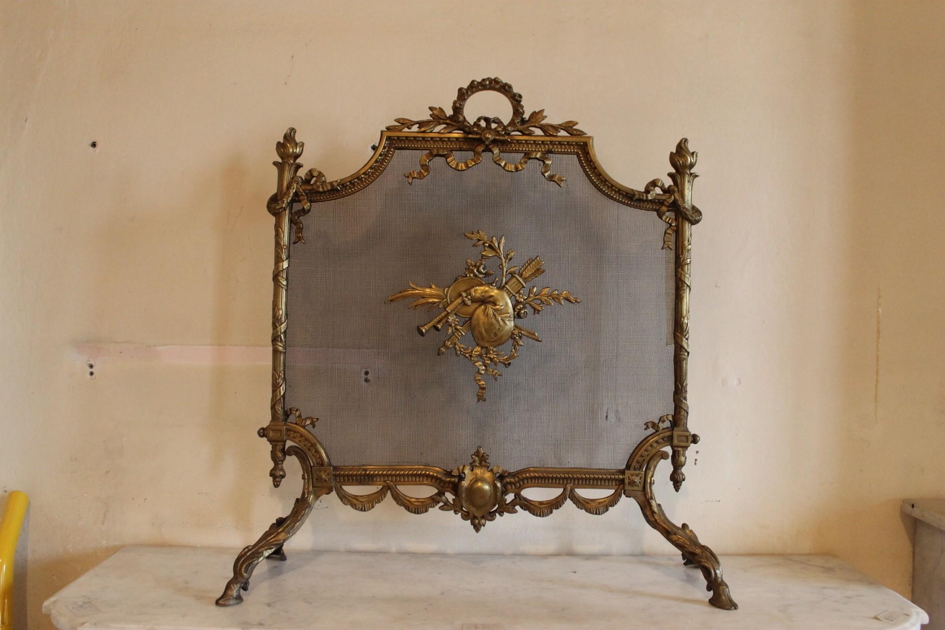 047 PARASCINTILLE NAPOLEONE III PER CAMINETTO LUIGI XVI