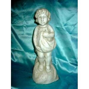 028 Statuetta Ottocento, raffigurante un bimbo popolano, Statuario Carrara